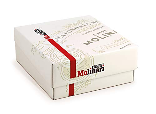 Caffè Molinari Geschenkbox/ESE Probierset ESE Lungo, 50 ESE Pads/Kaffee Pods/Cialde, 350 g