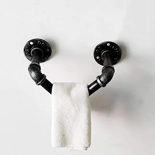 HANS CAO Industrie-Rohr-Handtuchhalter, Wandmontage, Weinregal, Badetuchhalter, Handtuch, Pferd, DIY-Dekoration, Handtuch, für Badezimmer, Esszimmer, Bar, 20 cm -