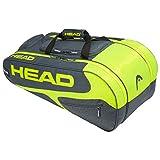 Head Elite Allcourt Portaracchette, Unisex, 283709GRNY, Grey/Neon Yellow, Taglia Unica