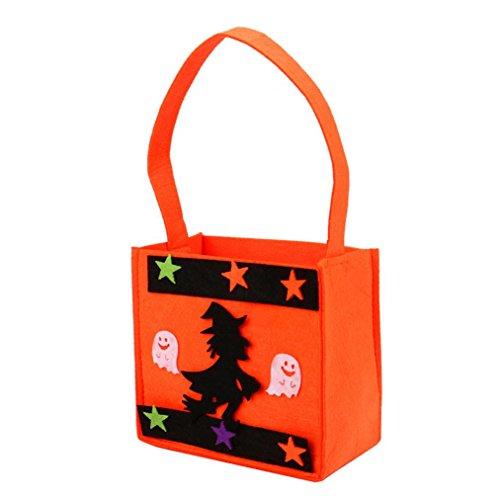 Transer® Halloween-Süßigkeit-Beutel / Eimer-Geschenk-Beutel-reizende Ghosts-Hexe-Dekoration-wiederverwendbare Einkaufstasche-Handtaschen-Größe: - Ghost Halloween Eier