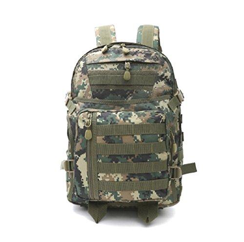 LJ&L Outdoor 36-55L Hochleistungs-Schultern Tarn-Taktik Camping Wandern Tasche, starke Verschleiß-resistenten Licht, Nylon wasserdicht reißfesten Camping Rucksack B