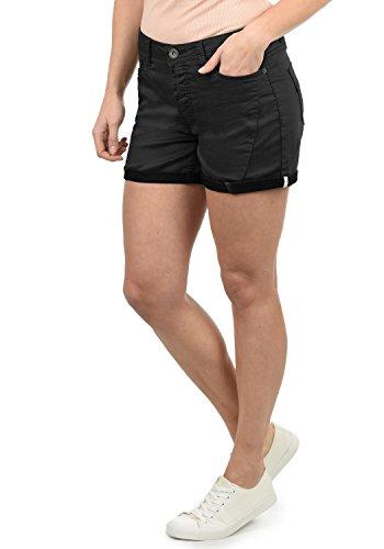 DESIRES Elja Damen Jeans Shorts Kurze Denim Hose Boyfriend-Shorts Aus Stretch-Material Loose Fit, Größe:40, Farbe:Black (9000)