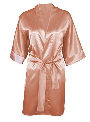 90 DKaren di lusso vantano nastro di raso accappatoio Kimono pigiama Lingerie - vari colori Light Brown