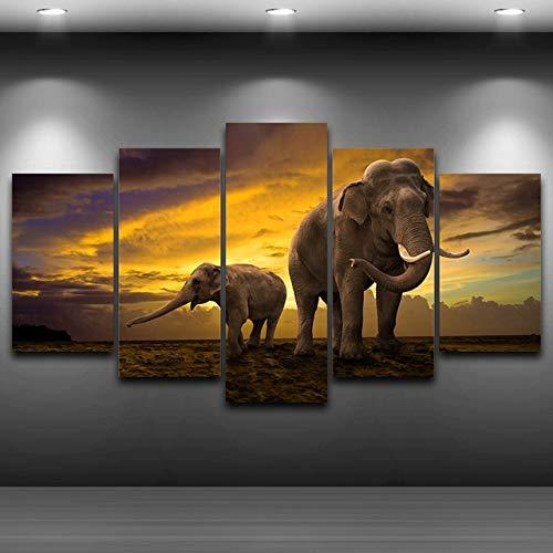 QIANG Canvas Art Wall Pictures Frame Home Decorativo Sala de Estar 5...