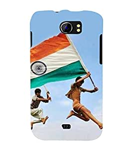 ifasho Designer Back Case Cover for Micromax Canvas 2 A110Q :: Micromax A110Q Canvas 2 Plus :: Micromax Canvas 2 A110 (Tiranga Independence Day Of India Republic Day)