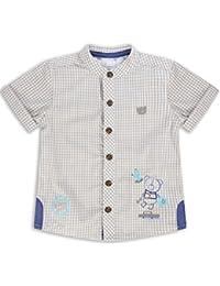The Essential One - Baby Kinder Jungen Kurzarm-Shirt - Beige/Weiß - EOT187