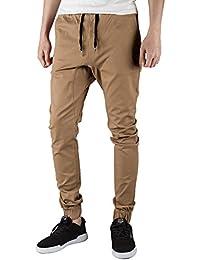 ITALY MORN Uomo Casual Chino Pantaloni Jogging Sport Slim Fit 20 colori