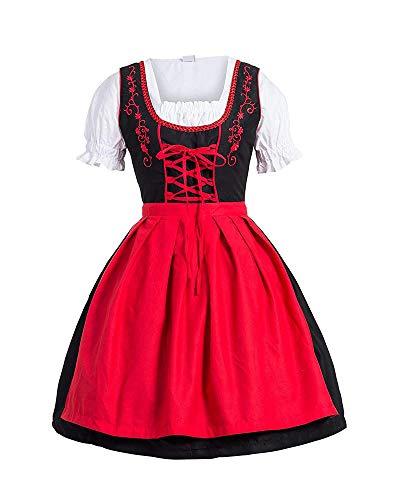 Kostüm Mädchen Ein Bier - Gpptvvf Oktoberfest Damen Maid Kostüm Bayerisch Bier MäDchen Kleid Dirndl Bluse Kurzarm Midi Trachtenkleid
