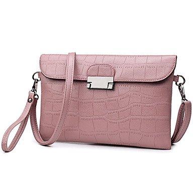 SUNNY KEY-Borsa a tracolla @ Donna Borsa a tracolla PU (Poliuretano) Per tutte le stagioni Casual Baguette Cerniera Nero Rosso Rosa , red blushing pink