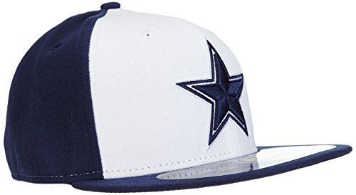 New Era Erwachsene Baseball Cap Mütze NFL On Field Dallas Cowboys 59 Fifty Fitted Team, 6 7/8 -