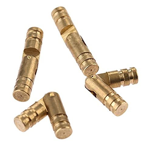 20Pcs Pure Copper Brass Hinge Hidden Invisible Concealed Barrel Hinge for Cabinet Cupboard Wine Jewelry