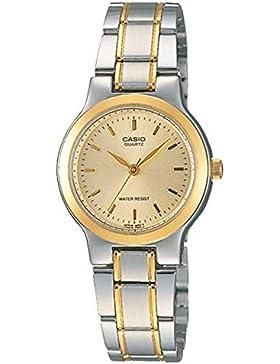 Casio # ltp1131g-9a Mujer 2tono metal Fashion analógico reloj