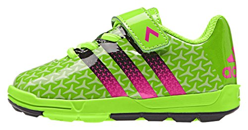 adidas Fb Ace Infant, Chaussures Mixte Bébé Vert / noir / rose (vert solaire / noir essentiel / rose impact)