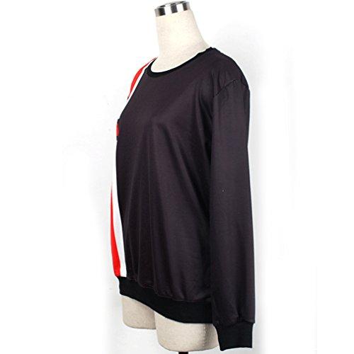 Belsen Damen T-Shirt Einheitsgröße Schwarz