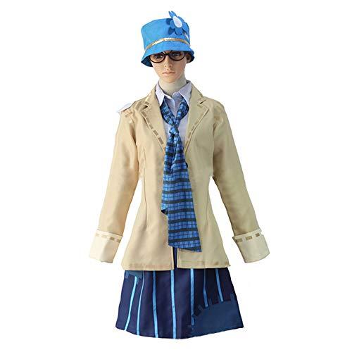 Goldlöckchen Kostüm Erwachsene Für - DXYQT Anime Cosplay Kostüme Mantel Kurzen Rock Anzug Halloween Kostüme Campus Kleidung World Book Day Kostüme für Erwachsene Kind Blau Uniform,Uniform-M