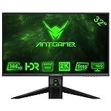 ANTGAMER Gaming M32G5Q 83,82 cm (32 inch) R1800 Curved Monitor (QHD, 1ms responstijd, HDMI,DVI,DisplayPort, 144 Hz, 2560x1440 Pixel, Free-Sync) zwart