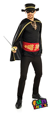 The Good Life Herren Erwachsene Spaß Shack Spanisch Bandit Räuber Zorro Kostüm Kleidung Größe 52-54