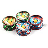 AK New Style Limited Edition Special Design Professional Compact Light Weight Metal Yoyo With String And Ball Bearing Set Of 3 At Random