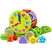 Spielzeug Baby Eichhorn Nachziehtier Schildkröte Babyspielzeug Holzspielzeug Holz Schiebetier