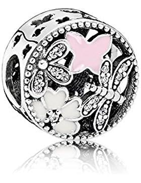Pandora Damen-Charm Schmetterling 925 Silber Emaille rosa Zirkonia - 791842ENMX