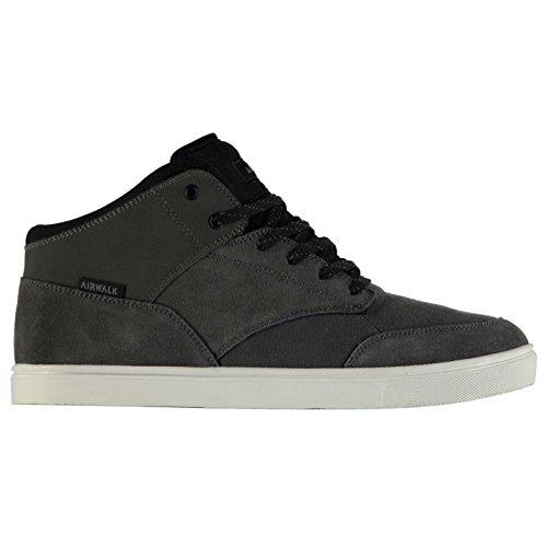 airwalk-breaker-mid-hommes-skate-chaussures-baskets-lacets-sneakers-sport-casual-charcoal-black-9-43