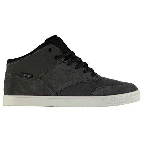airwalk-breaker-mid-hommes-skate-chaussures-baskets-lacets-sneakers-sport-casual-charcoal-black-8-42