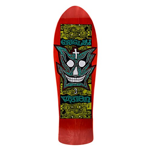 Vision grigley III Neuauflage Skateboard Deck 24,8x 78,7cm, BD0V3-Red, rot, 9.75 x 31-Inch
