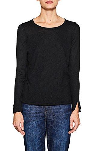 ESPRIT Damen Pullover 997EE1I805, Schwarz (Black 001), Small