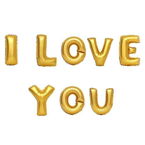 ED-Lumos Gold ICH Liebe Dich Wiederverwendbare Helium-Ballons für Valentinstag-Hochzeitsfest-Dekoration-Geschenk (Dich-ballon Ich Liebe)