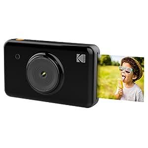 Kodak Mini SHOT sans fil 2x3 pouces imprime w/4 PASS Technologie d'impression brevetée 2 en 1 appareil photo numérique à impression instantanée (Noir)