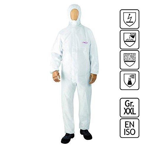 Einwegbekleidung   Chemieschutzoverall   CoverStar® mit Kapuze   weiß   Gr. XXL