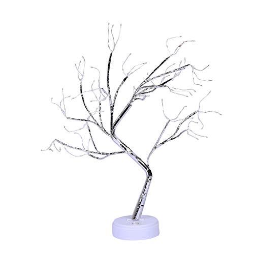 Nncande 108 LED - Perlen Licht - Simulation Bonsai Zweige Baum Light Kupfer Leuchte Baumlicht Blumenlichter Desktop Tabellen Lampe Tischlampe Mit Touch Schalter Nachtlicht USB-Batterie Stromleitung