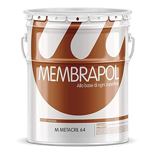 Membrapol Metacril 64 confezione da 10 Lt resina per pavimenti stampati e pareti colore trasparente SPEDIZIONE GRATUITA