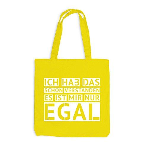 Jutebeutel - Ich hab das schon verstanden - EGAL - Fun Style Design Gelb