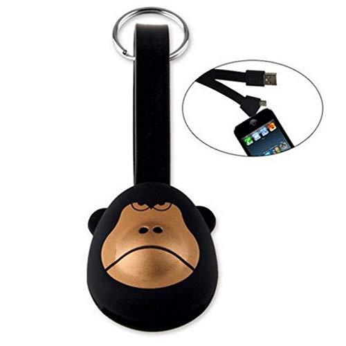 Meigold Schlüsselanhänger mit Bommel - Stil von Monkey - Schlüsselanhänger, Dekoration für Auto, Telefon, Tasche, Schlüsselanhänger, Geschenk für Weihnachten schwarz Monkey Telefon