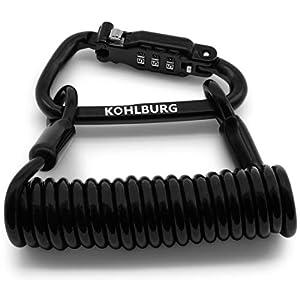 KOHLBURG Zahlenschloss für die Tasche – extra sicheres Kabelschloss 150cm lang