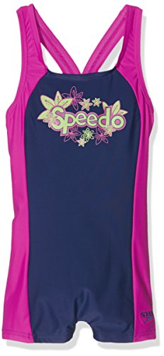Speedo Girls' Beach Mix Panel Legsuit Swimsuit, Girls, Badeanzug Beach Mix Panel Legsuit
