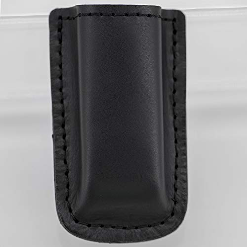 MAYMOC Tactical Leather Magazine Holder Größen für praktisch alle 9 mm .40 .45 oder .380 Pistol Mag Single oder Double Stack IWB oder OWB -