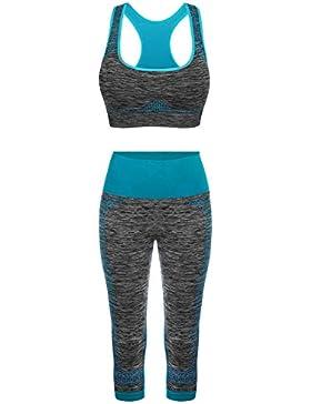 FITIBEST Deportes Sujetadores Yoga Pantalones Leggings Deporte Conjuntos para Mujer Running Fitness Pilates