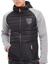 5362ef1063788 Amazon.fr   veste bi matiere - XL   Homme   Vêtements