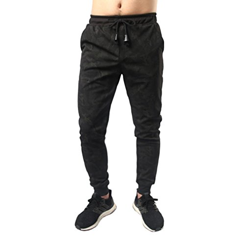 Jeans Herren,Binggong Means Casual Jogger Dance Sportwear Baggy Slim entworfene Hose Slacks Sweatpant Stretch Used Look Skinny pants hochwertiger baumwolle trainingsanzug (Schwarz, M)