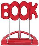 Wedo 21119902 Leseständer Book (aus Kunststoff, stufenlos verstellbar, vernickelte Bügel) rot