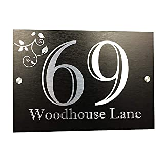 Acrylic Master Executive Address Plaque | House Numbers