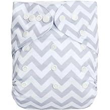 Alva bebé reutilizable lavable impreso pañal de tela con ...