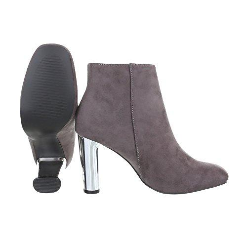 Donne Stivali tacchi Tacco Ital Stivali Scarpe design Alti E Gattino Grigio Delle 7EwnB