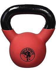 Gorilla Sports Red Rubber Kettlebell 4-32 KG - Vinyl Kugelhantel Schwunghantel Gewichte aus Gusseisen mit Neoprenhülle