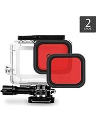 iTrunk Roter Filter für iTrunk GoPro Hero 6 Hero 5 Gehäuse (2Stk.)