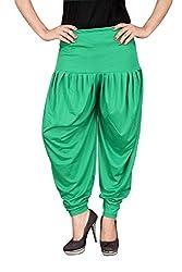 Navyataa Womens Lycra Dhoti Pants For Women Patiyala Dhoti Lycra Salwar Free Size Green Color