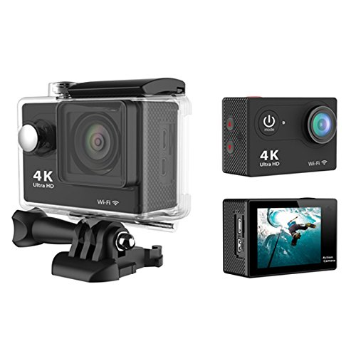 Sports-Action-CameraBOSIT-4K-12MP-WiFi-20-Inch-Full-HD-LCD-Display-170Ultra-Wide-Angle-Lens-CamcorderWaterproof-Anti-Shaking-with-Durable-1050mAh-Battery-Various-Accessories-for-SurfingSwimming-Etc