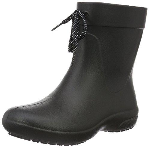 Crocs Fsailshrtrainbt, Stivali di Gomma Donna Nero (Black)